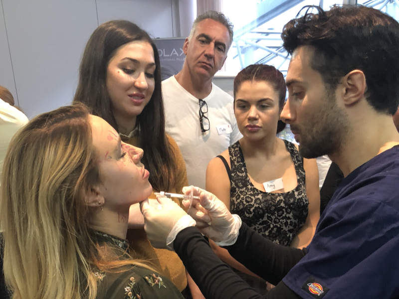 Dr Zack Ally teaching on our Botox and dermal filler training courses in London