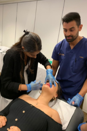 Dr Amrit teaching lip augmentation