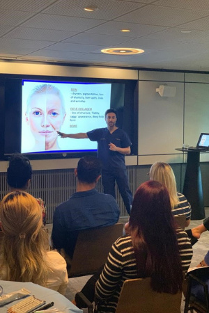 Dr Zack Ally teaching the ageing face on our dermal fillers training course