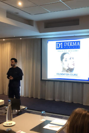 Dr Zack Ally teaching the Foundation Botox and Dermal Fillers Training Course