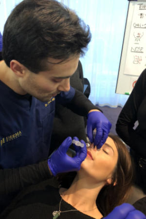 Dr Zack teaching non-surgical rhinoplasty