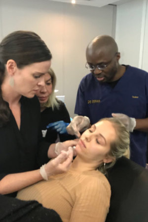 Dr Chike training jawline filler treatment